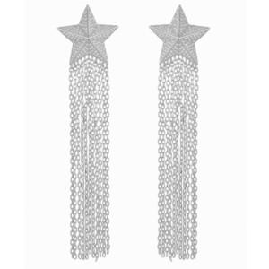 GODKI 92mm Meter Star Tassel Drops Trendy Cubic Zirconia Women Wedding Party Engagement Dressing Up Earring Jewelry Addiction J190522