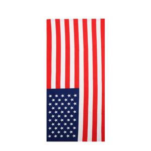 Bandera de Verano de microfibra toalla de baño a rayas con nosotros Bandera británica dólares Impreso toalla de playa rayada llana toalla del recorrido al aire libre de secado rápido Deportes