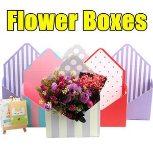 12Pcs Set Cardboard Bouquet Gift Box Envelope Flower Boxes Folding Floral Bouquet Paper Box Romantic Flower Paper Holder Decor