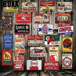 Motoröl Mobil ESSO Blechschild Gewohnheit Großhandel Poster Wand-Plakette Classic Metal Malerei Dekor-Kunst