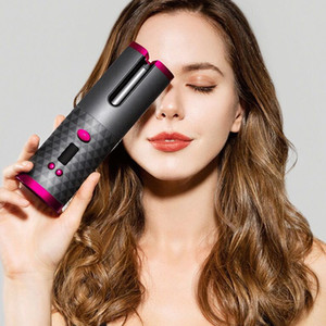 Cordless Automatic Hair Curler iron wireless Curling Iron USB Rechargeable Air Curler for Curls Waves LCD Display Ceramic Curly