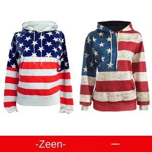 Vestir American digital 3D Nacional de la Mujer PPPqn wi98P americana 3D mujeres digitales impreso suéter de la capa capa de la bandera nacional de impresión suéter de la bandera
