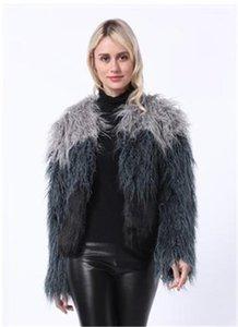 Outwear beiläufige lange Hülsen-Damen-Kleidung Frauen Mode Desigenr-Pelz-Mantel-lange Mink Faux Mantel Fellimitat