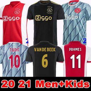 20 21 أجاكس أمستردام FC كرة القدم جيرسي 2020 2021 PROMES ألفاريز تاديتش NERES VAN BEEK قمصان الرجال + الاطفال كرة القدم الزي الرسمي مايوه الثالثة بعيدا