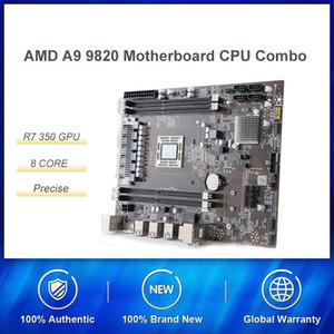 AMD A9-9820 8-Core Desktop APU R7 350 GPU com placa-mãe Combossupport DDR3 2.35GHz Comparado com 7400 conjunto de alto desempenho