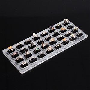 armazenamento acrílico 1nIrS vidro orgânico Diamond ring ornamentos acessórios anel acessórios de assento de jóias com diamantes 16 32-bit indicador do carrinho placa p