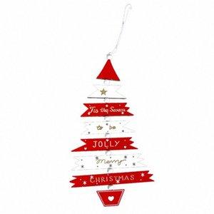 Árvore de Natal Pendant Ornament Gota Wood Holiday pendurar decoração de Suprimentos yYFS #