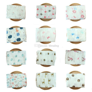 110 Styles Infant muslin blanket INS baby swaddle wrap blanket towelling baby spring summer Swaddlin unicorn flamingo animal 115*115cm C4833