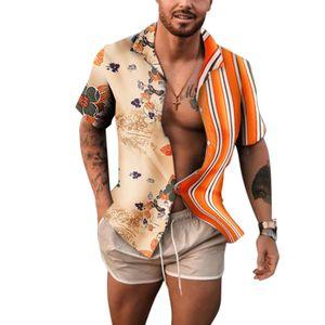 Men's short sleeve fashion shirts shirts new tops for men small medium large plus size 2xl 3xl clothing blouse