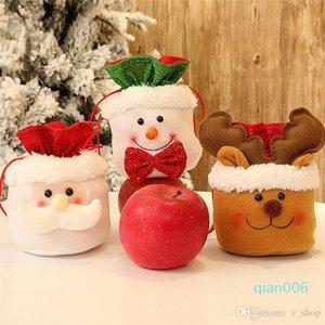Saco dos doces novo do Natal Ovo de Páscoa presente Drawstring sacos Papai Noel Boneco Elk Bag Xmas Tree Decoração do presente maçã de doces Pouch
