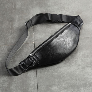 PU Couro Bloco de Fanny Men cintura Bag Moda ajustável Bag Belt Masculino Heuptas alta qualidade Bum Banana Saco Banana Sac