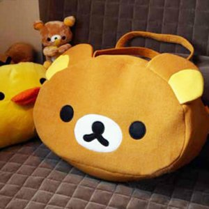 Rilakkuma Brown Handbag Cute Shoulder Bag plush Bear Christmas Halloween Candy Bag Gift 2020 New Arrivals