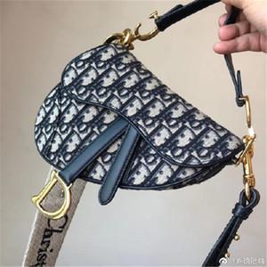 DIOR lussomoda twill jacquard tela borsa del partito 25CM Bayswater tendenza di design della sella borsa del progettista del sacchetto di spalla tote ins
