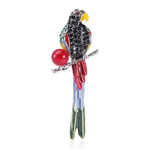 abbigliamento tRS9x personalizzato i creativi nuova strass perla spilla colorata dinamica spilla pappagallo nv Fu Zhuang nv fu Zhuang strass donna