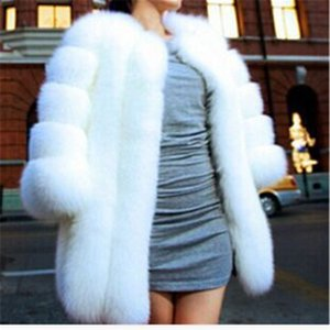 New warm winter coat fashion fur coat silver black white Middle- long overcoat Free Shipping fz0757