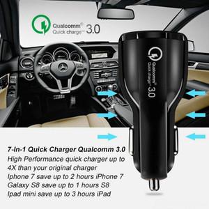 Caricabatterie CgjxsTop qualità Qc 3 .0 Fast Charge 3 .1a Qualcomm Quick Charge Car caricatore doppio del Usb veloce ricarica del telefono con il sacchetto di Opp