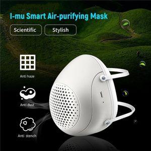 Reinigungsmaske Air Eletric Staub Gesichtsecht Smart-Frischluft-PM2.5 mit Atem Ventilator Filtering Smog Respirator Elektrische Mask