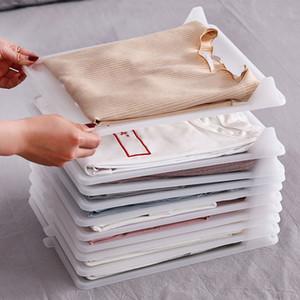 5шт Fast Fold одежды Совет Организатор T-Shirt Одежда Система организации Рубашка Папка хранения Инструмент для путешествий Closet Home T200818