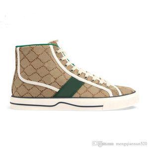Hombres Lienzo Zapatos casuales Nueva letra impresa encaje plana zapatos de mujer zapatos de cuero dama corta zapatos de ocio tamaño grande 35-41-42-44 US4-US11