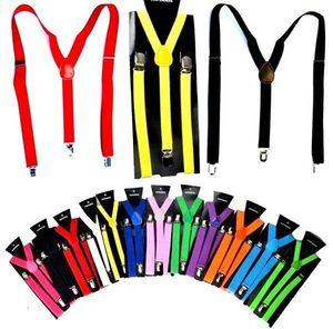 2.5X100CM Mulheres / Homem Y-back adultos Suspender ajustável clip-on Elastic Suspender Crianças Cintos de bebê tiras DHD691