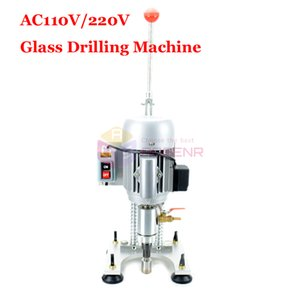 110V 220V Single Arm Drill Glass Drilling Machine Marble Ceramic Punching Reamer Glass Driller Stone Tile Tapper Perforator