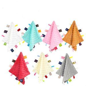 Teething Blanket Appease Towel Toy Hanging Peas Sounding Towel Super Soft Baby Teething Cloths Baby Teething Toys Security Blanket GWA829