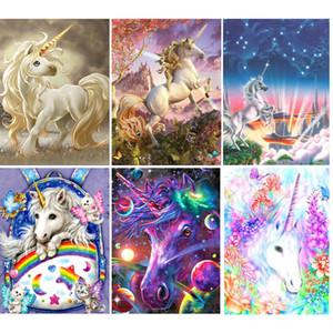 5D DIY Diamond Painting Set Magical Unicorn Cartoon Cross stitch Mosaic Icon Rhinestones Decor Full Square Diamond Embroidery
