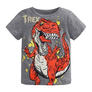 Clearance summer boys t shirt toddler girl Cartoon Dinosaur Print t-shirt for children's t-shirts for boy child shirts kids tops