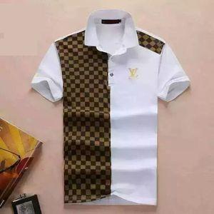 Дизайнерский полосатые рубашки поло футболки змеиного польос пчелы цветочные men039 вышивок, с высокими уличной модой лошади рубашки поло FW.03