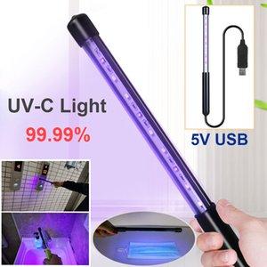 USB de charge mobile Uv désinfection lampe bâton Désinfection Portable Uv Masque lampe germicide Rod stérilisateur Acariens Lampe