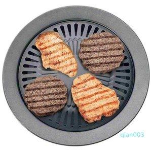 Estilo coreano Non-stick sem fumaça Churrasco Pan Grill Stovetop Barbeque Placa Cozinhar Pan Kitchen Pan wh0424