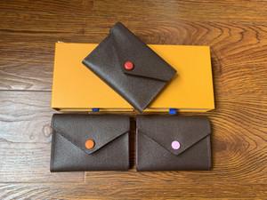 Rosalie bolsos de las mujeres bolsos 41338 # bolso marrón moneda de la flor de la cartera bolsas pequeñas cortos muti colores presbicia tablero de ajedrez en polvo de haba