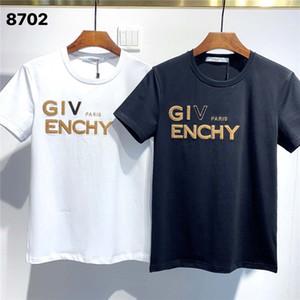 Givenchy FW20 Yeni Geliş Üst Kalite Giv Giyim Erkek Tişörtleri Baskı sokak giyim Tees Kısa Kollu Asya 8702 M-3XL