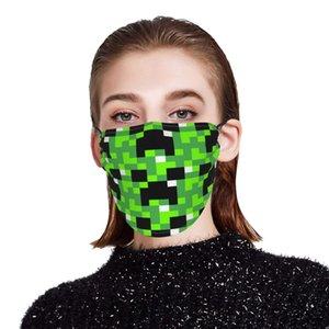 Minecraft antirub sin nombre maquillaje máscara abierto careta agua potable enmascarar hojas sueltas estereotipos tela impresión de seda del hielo de ancho completo