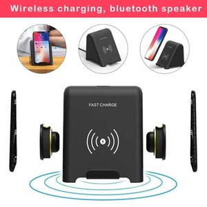 Portable Bluetooth Speaker For Samsung Galaxy S10 Plus Speakers Qi Wireless Charger For XS MAX Mi 9 Fast Charging