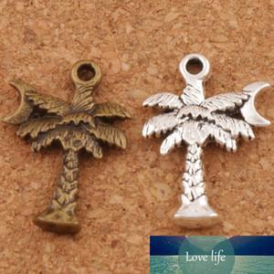 Coconut Tree Luna distanziatore bordano fascino 200pcs / lotto di modo d'argento antico / bronzo dei monili i pendenti in lega di fatto a mano fai da te L413 21.2x14.3mm