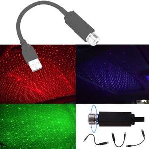 USB 미니 LED 자동차 지붕 스타 나이트 라이트 프로젝터 인테리어 주위 갤럭시 램프 조정 가능한 다중 조명 효과 장식