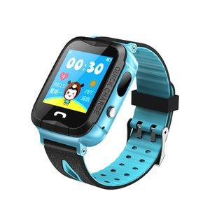 Cgjxs IP67 impermeabilizan V6G inteligente GPS del reloj del monitor del perseguidor Sos llamada Con la cámara de iluminación natación del bebé SmartWatch para Niños Niño