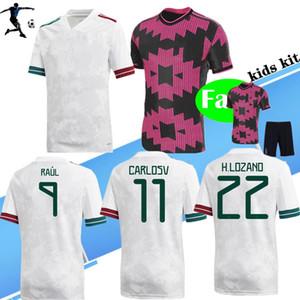 Nuovo 2020 2021 Pink Me Xi CO Lozano Chicharito Soccer Jerseys Herrera 20 21 uomini per bambini Uniforme Maillots Camisetas Camicie da calcio