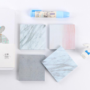 Marble color memo pads Notes Self Adhesive Memo Pad Sticky Notes School Office home notepads Supply LX2947