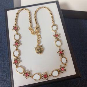 G Best Selling Halskette für Frau Geschenk Top Qualität Messing Halskette Klassische Charm Tiger Form Halskette Modeschmuck Versorgung