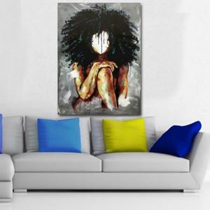 Salon Ev Dekorasyonu için Black Magic Kız Tuval Yağlı Boya Suluboya Kızlar Poster Baskılar Modern Soyut Duvar Sanatı Resimleri