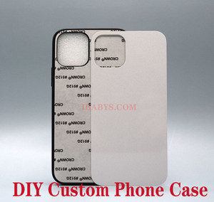 Custom TPU+PC Blank 2D Sublimation Hard Plastic Heat Transfer Phone Case with Aluminum Inserts for iPhone 11 12 XS MAX Samsung S10 NOTE 9