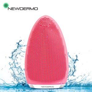 NEWDERMO face Silicone escova de lavagem Pele Pore limpeza profunda Fácil de maquiagem Ferramentas Remover suaveExfoliante Massagem Facial Beauty