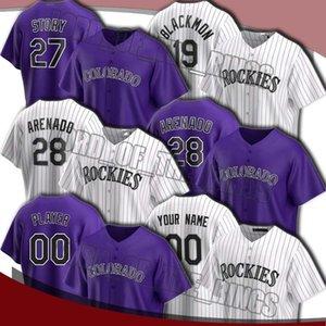 Personalizado Rockie 28 Nolan Arenado Jersey 27 Trevor Story Charlie Blackmon Jerseys Yency Almonte David Dahl Márquez alemán Jersey de béisbol