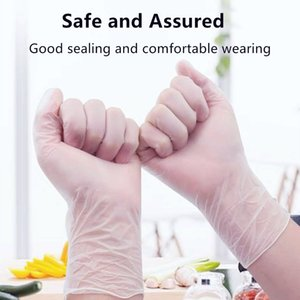 De vinil descartáveis luvas de PVC transparente vinil Exame luvas de EPI