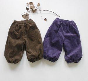 FM Korean INS Quality Great Autumn Kids Little Boys Pants Organic Corduroy Winter Fleece Lined Trousers Spring Children Girls Trousers
