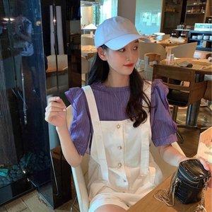 qlr6b BcW0f NNS Sommer koreanischer Stil 2020 neue Internet-Berühmtheit in Einreiher lockerer Stil westlicher alternder koreanischer Sommer Nns Gürtel 2020 bel