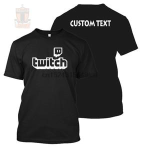 Nouveau Twitch Canal Impression personnalisée avec texte personnalisé Retour Teet-Shirtshirt