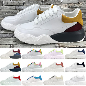 2020 novos sapatos plataforma treinador tribunal mens branco laranja marinha negro verde multi azul brilho cor vermelha no escuro das mulheres sapatilhas ocasionais